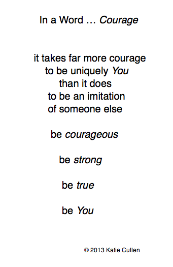 In a Word ... Courage