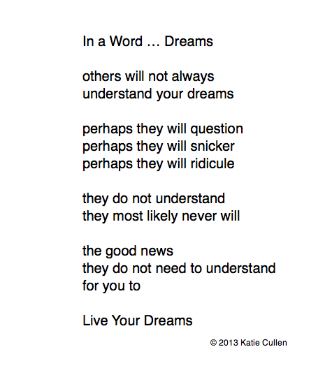 In a Word ... Dreams