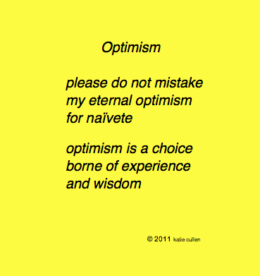 In a Word ... Optimism