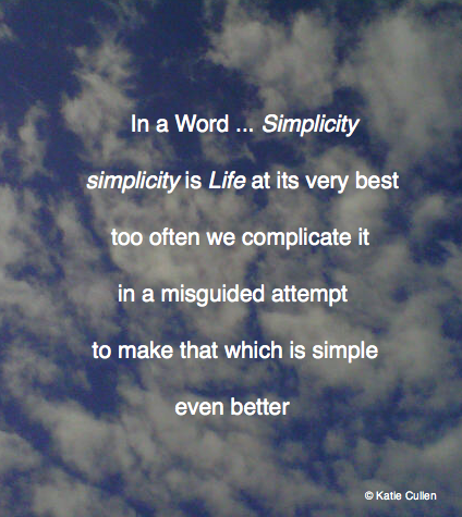 In a Word ... Simplicity